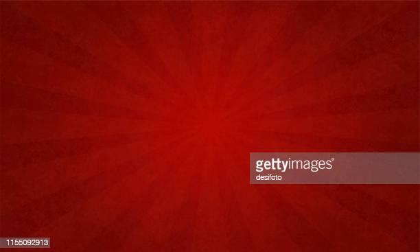 ilustrações de stock, clip art, desenhos animados e ícones de bright red sunburst - vector background - illustration - cor de vinho