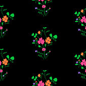 Bright seamless spring floral pattern
