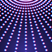 Bright shiny neon lines background with short strokes direction