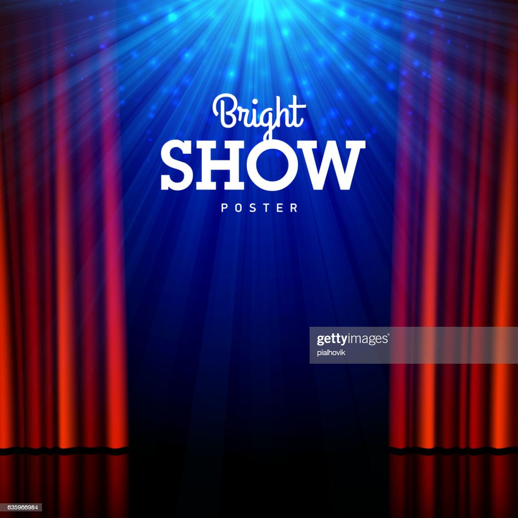 Bright show poster design template