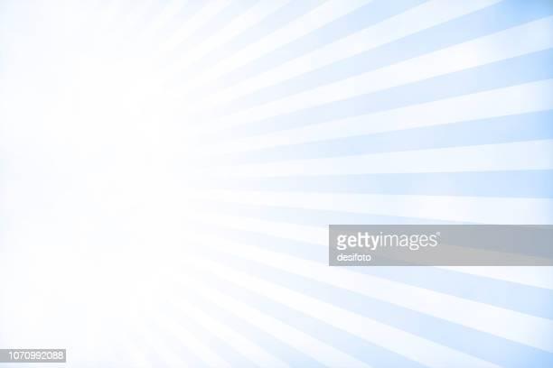 bright sky blue grunge sunburst textured vector christmas background- horizontal - sunbeam stock illustrations