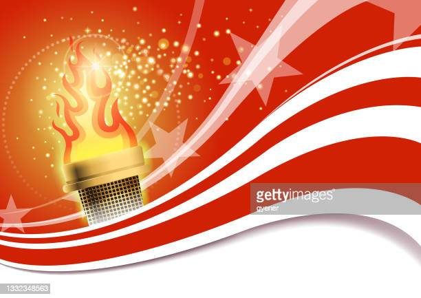 bright sports torch - winter sports event stock illustrations