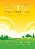 Bright summer park background
