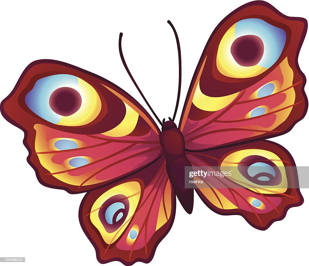 Bright vector butterfly