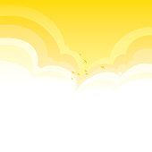Bright vector clouds background