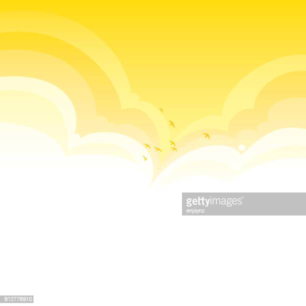 bright vector clouds background - fun stock illustrations, clip art, cartoons, & icons