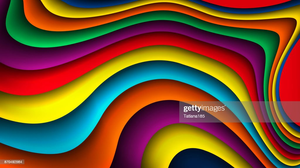 Bright vector colorful wavy background