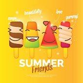 Bright vector illustration of ice cream
