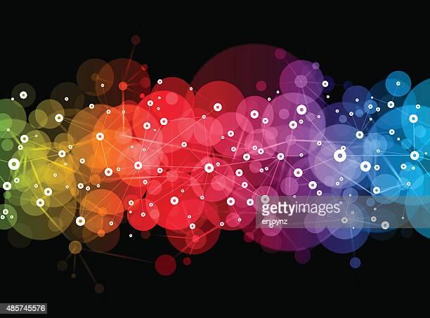 stockillustraties, clipart, cartoons en iconen met bright vector network design - atomic imagery