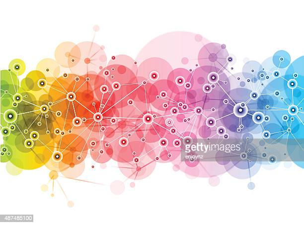 bright vector network design - science and technology stock illustrations