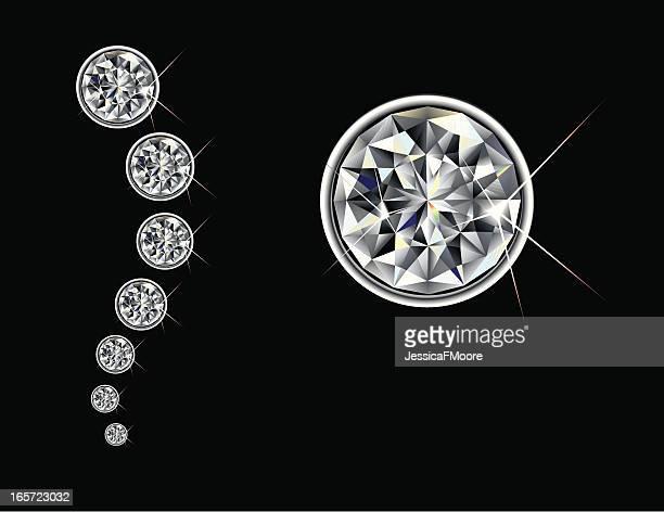 brilliant cut diamond - bling bling stock illustrations, clip art, cartoons, & icons