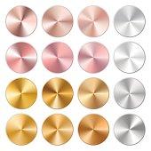 Brilliant golden gradients