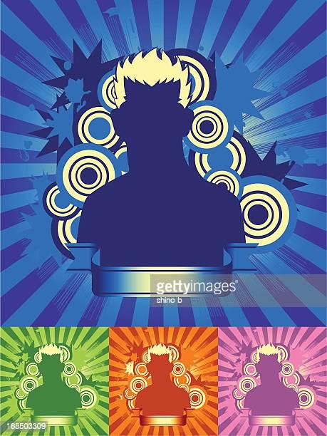 Brilliant Man in four Color
