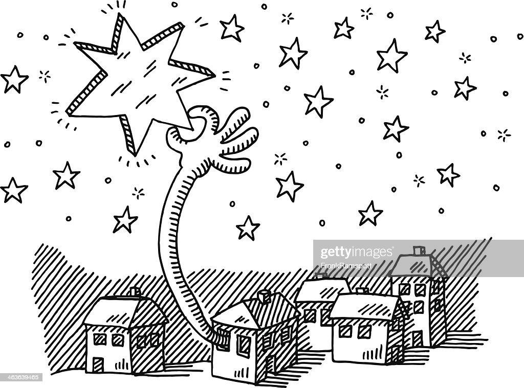 Trazer Estrela Céu Para Baixo Da Frase Desenho Arte Vetorial Getty