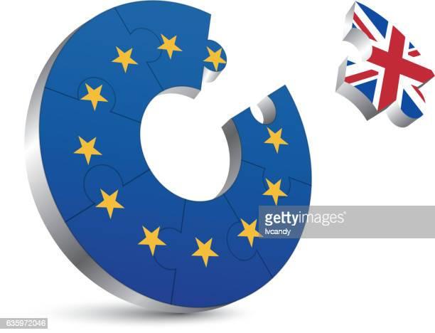 illustrations, cliparts, dessins animés et icônes de britain left europ - brexit