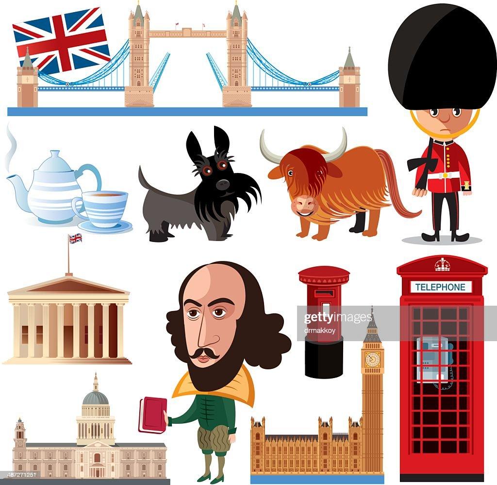 Britain Symbols : stock illustration