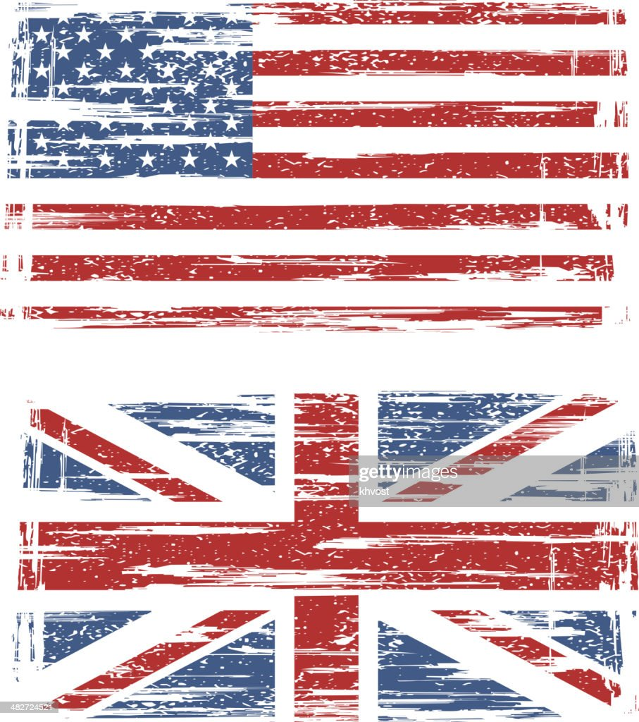 British and American grunge flags