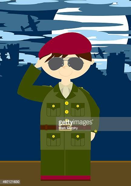 Soldat saluant Britannique