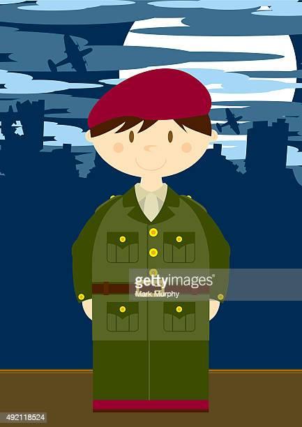 Soldat de l'armée britannique scène