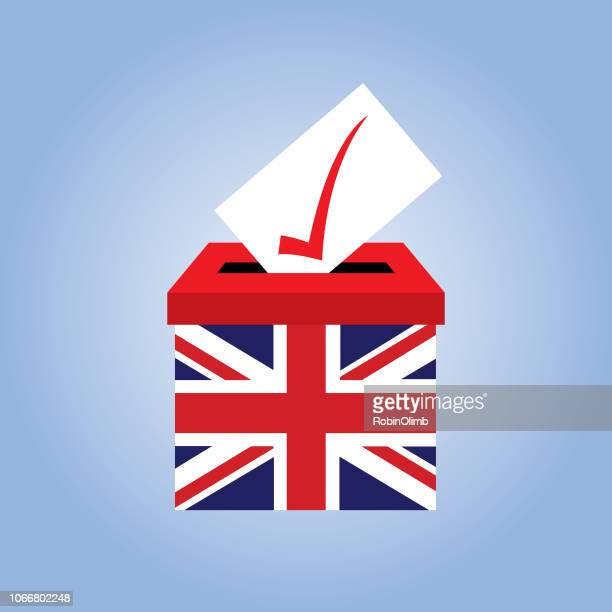 british ballot box icon - british culture stock illustrations