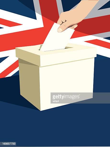 ilustraciones, imágenes clip art, dibujos animados e iconos de stock de british urna - urna de voto