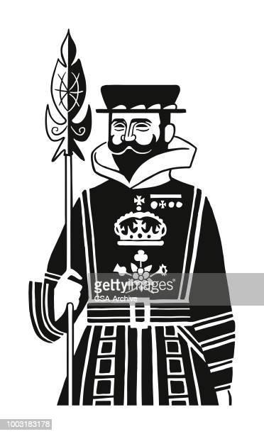 british beefeater - guardsman stock illustrations