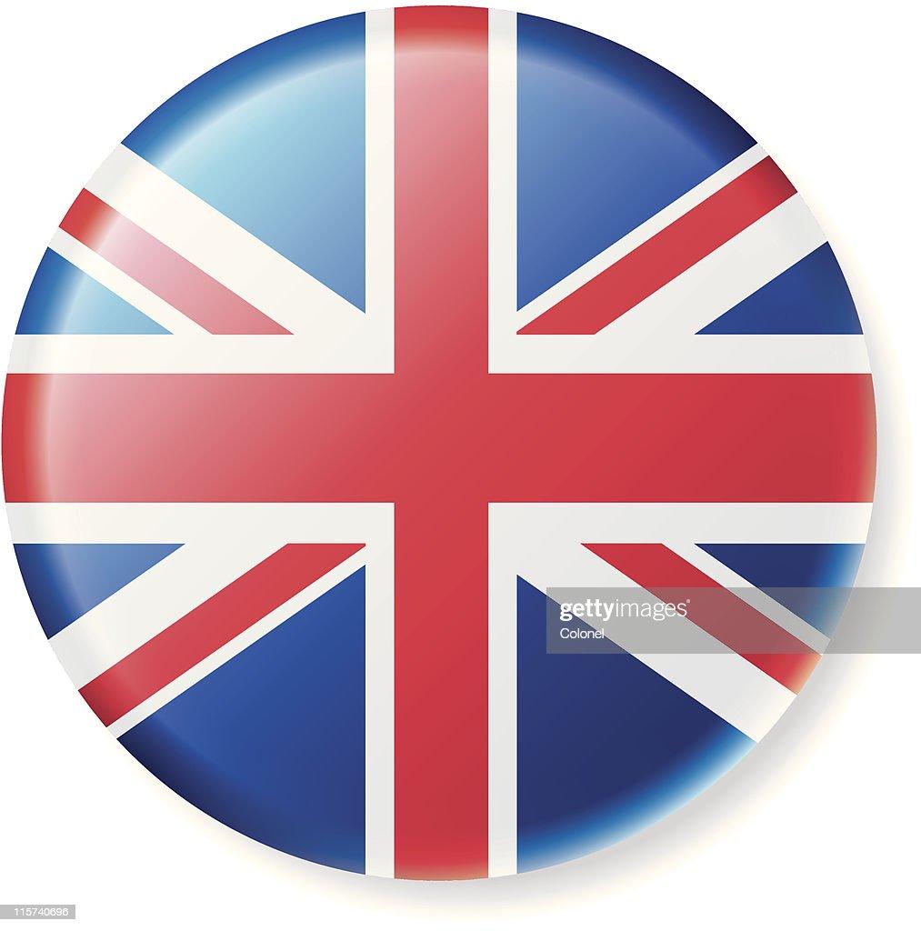 British Flag Satin Button