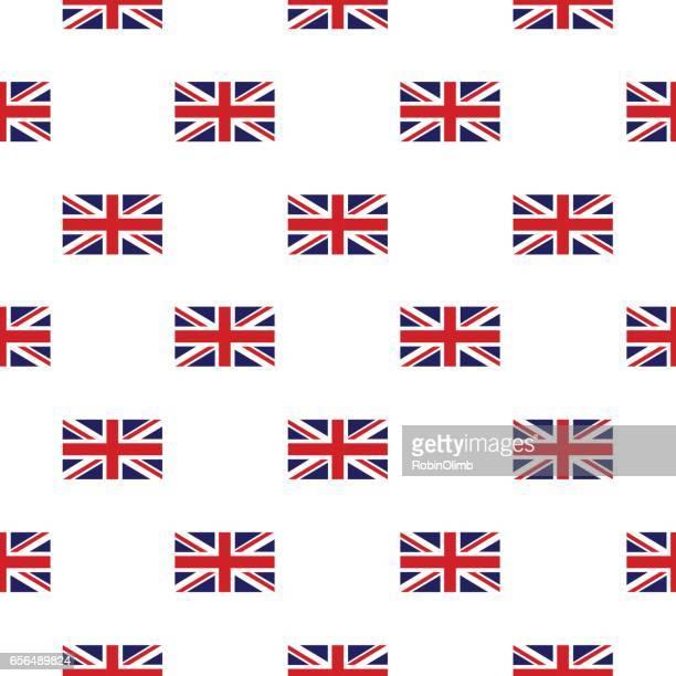 British Flag Seamless Pattern