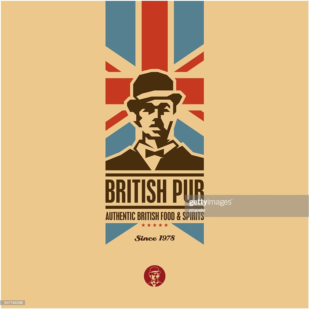 british food, british pub label