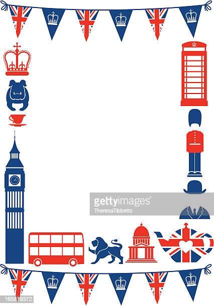 british frame - british culture stock illustrations