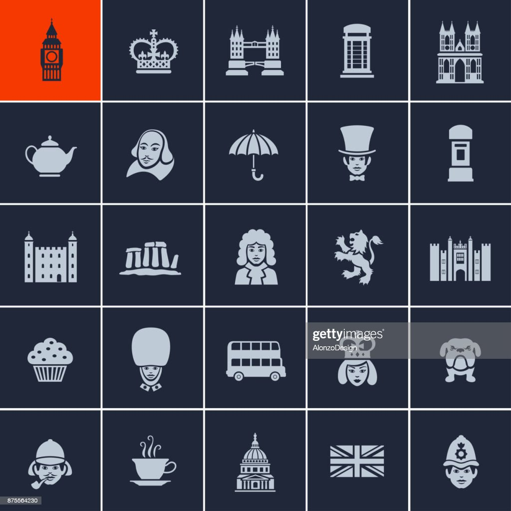 British Icons : stock illustration
