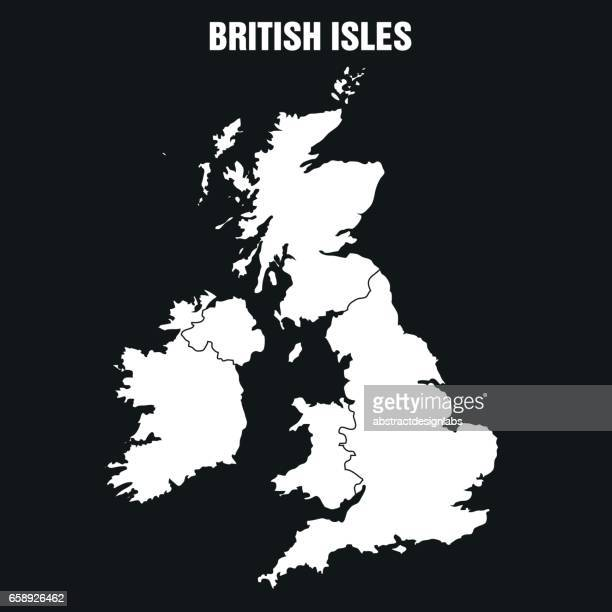 British Isles Map - Illustration