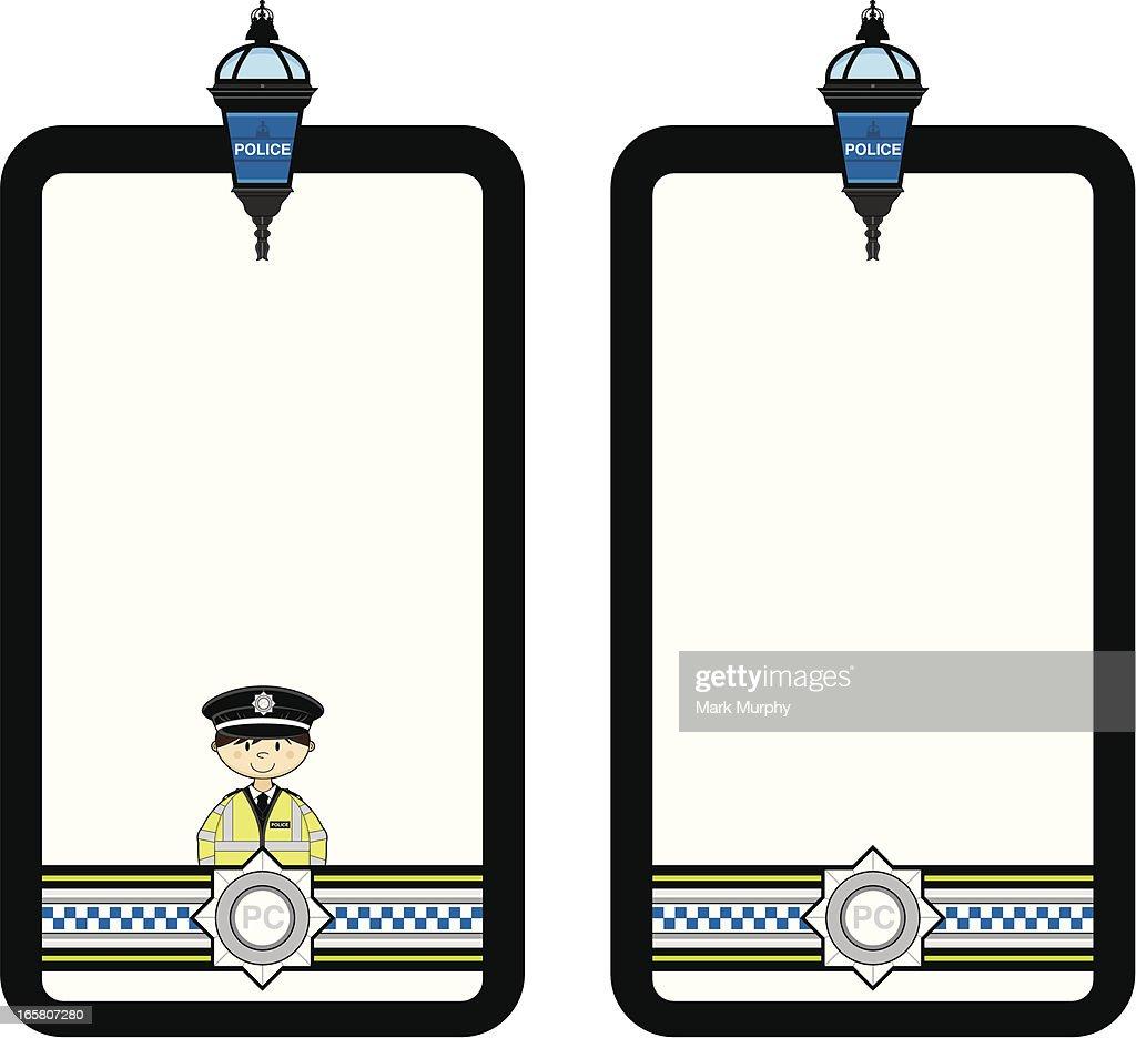 British Police Officer Frame Vector Art | Getty Images