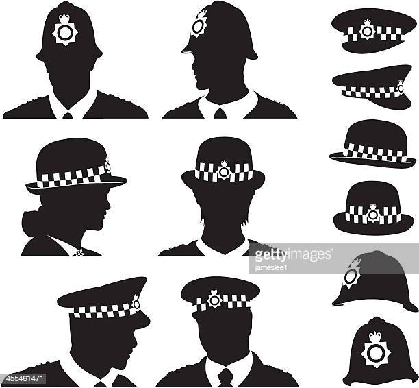 british police - hat stock illustrations