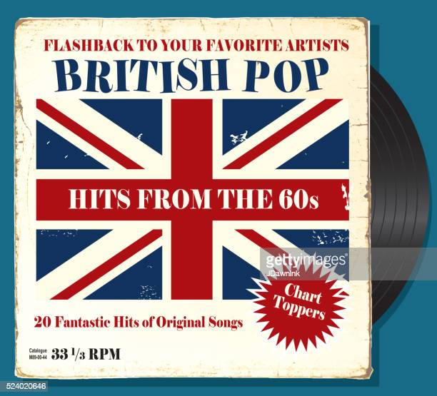 British Pop record sleeve cover design with record