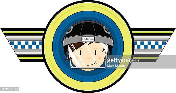 british riot police officer badge - helmet visor stock illustrations, clip art, cartoons, & icons