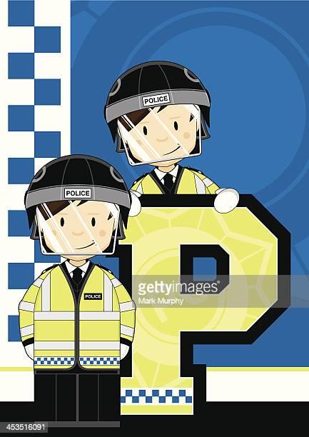 british riot policemen letter p - helmet visor stock illustrations, clip art, cartoons, & icons