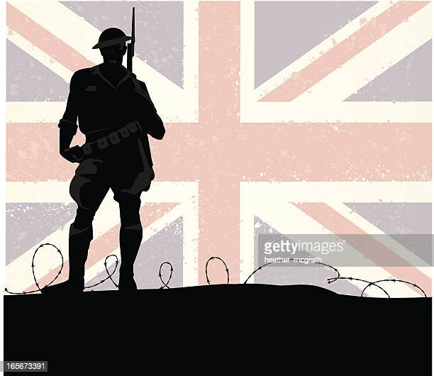 british soldier - world war ii stock illustrations