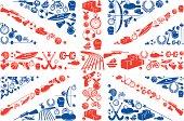 British Sport Union Jack flag Icons