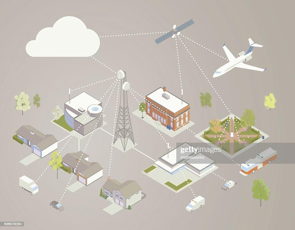 Broadband Diagram Illustration High