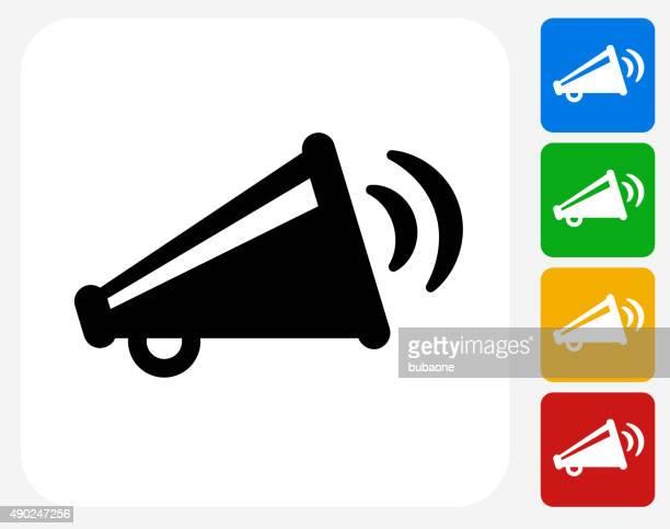 illustrations, cliparts, dessins animés et icônes de mégaphone icône de diffusion à la conception graphique - porte voix