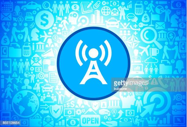 Broadcasting Tower  Icon on Business and Finance Vector Background
