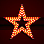 Broadway style light bulb star shape