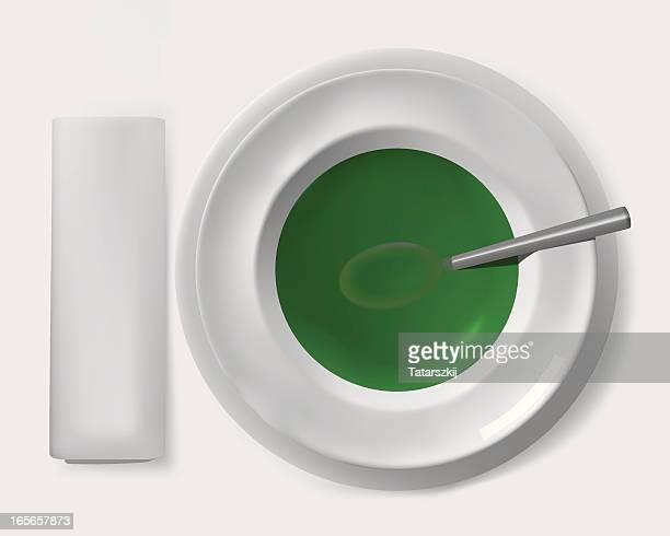 Sopa de crema de bróculi