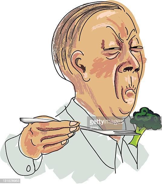 broccoli hater - sneering stock illustrations, clip art, cartoons, & icons