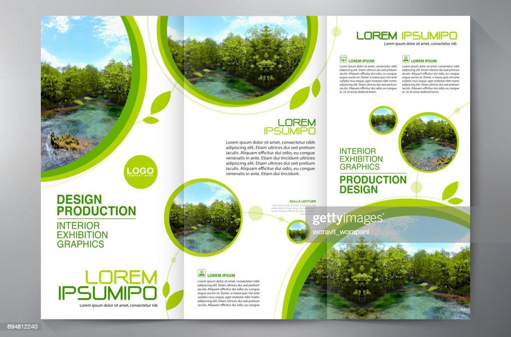 brochure 3 fold flyer design a4 template vector art getty images