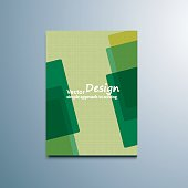 Brochure abstraction colored shapes vector banner.