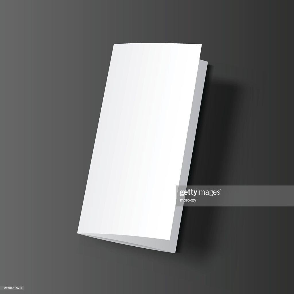 Brochure blank mockup black