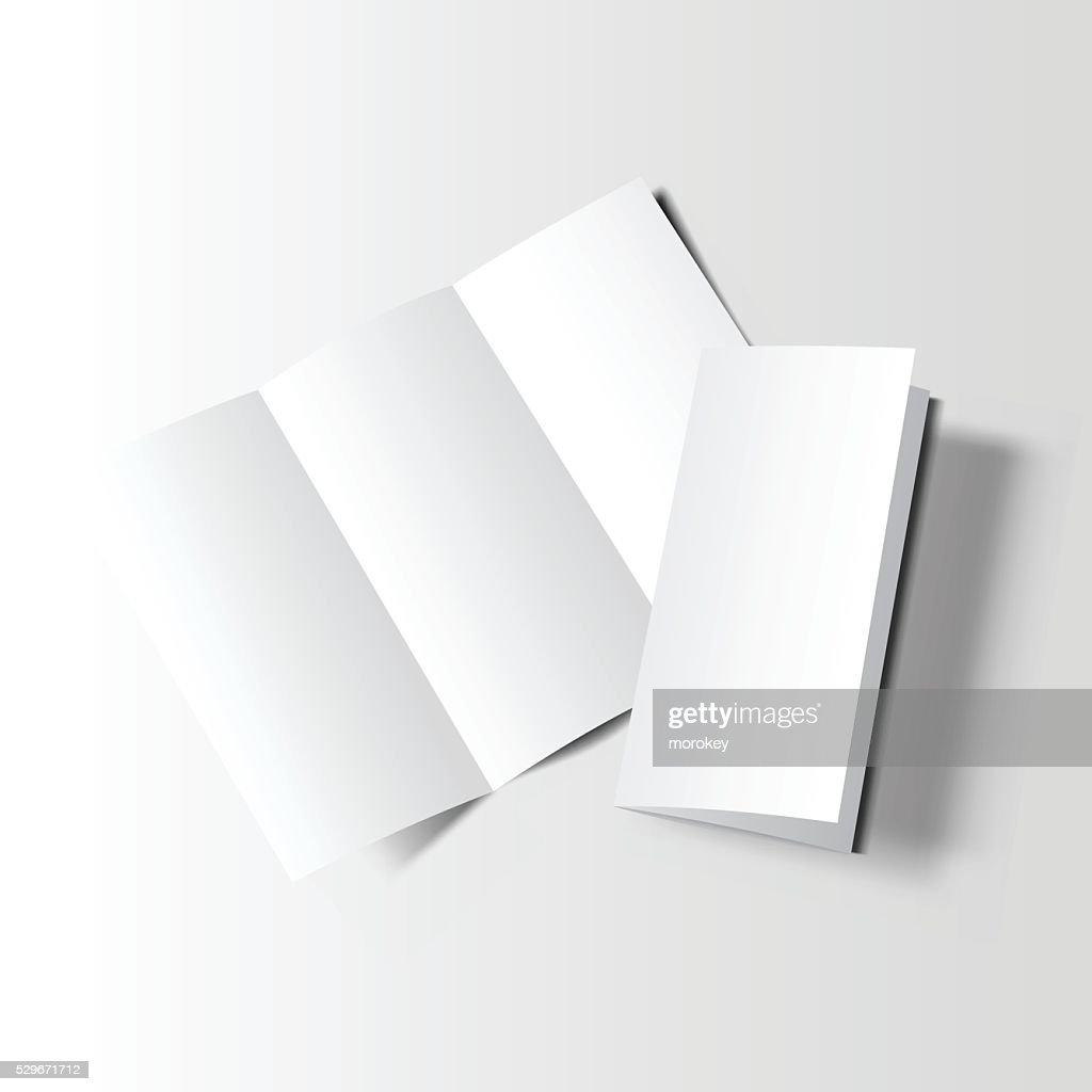 Brochure blank mockup two