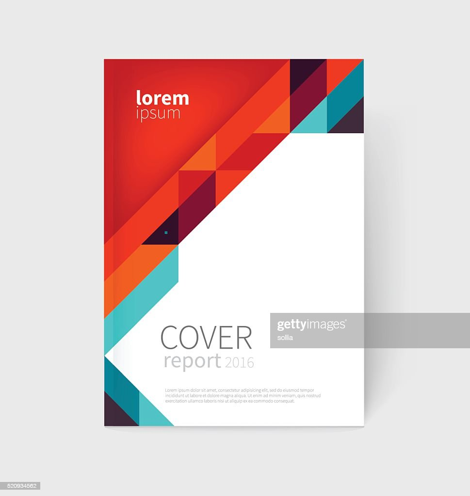 Brochure, business card, flyer, annual report cover template
